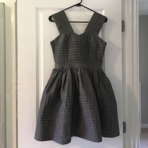Dear Creatures Modcloth Grey Fit and Flare Dress